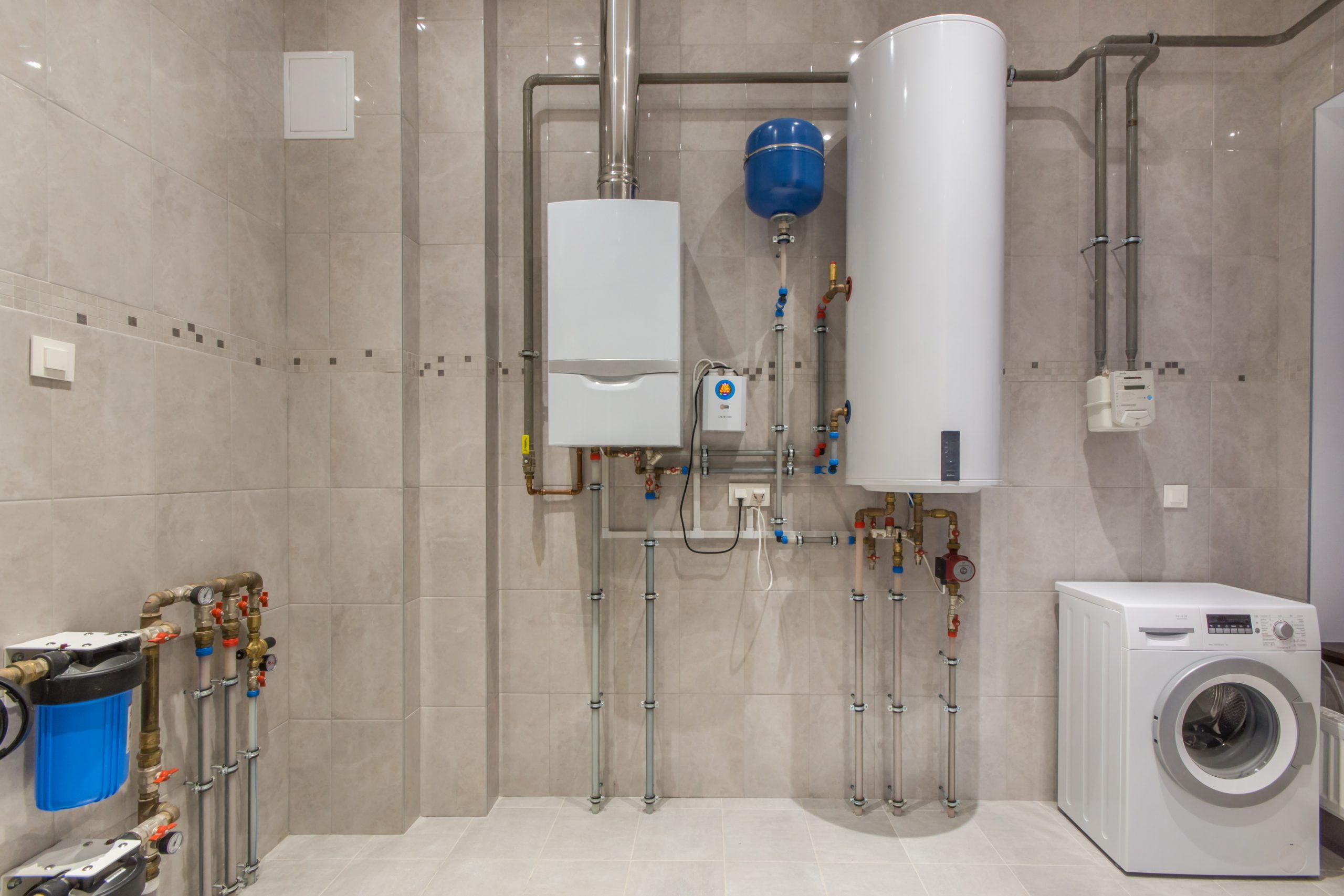 gas boiler water tank